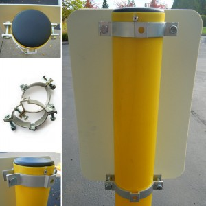 4'' Bollard Sign Adapter Set