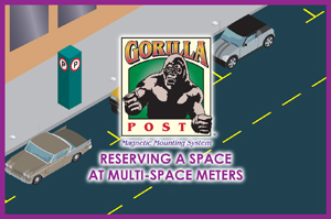 Reserving a parking space with multi-space meters
